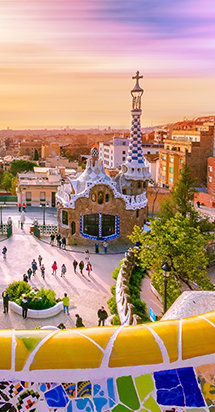 Scenic view of Spanish city of Barcelona landscape.